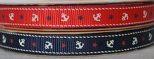 10mm ANCHOR and STARS GROSGRAIN RIBBONS